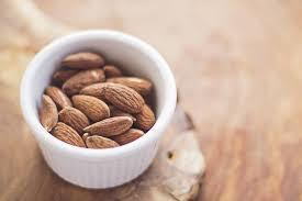 almonds in small bowl
