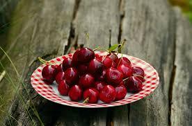 cherries on plate